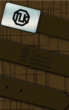 皮带名片设计卡片个性创psd图片