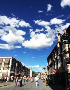 拉萨八角街图片