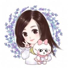 LIN手绘-卡通精致可爱柔萌Q版小美女