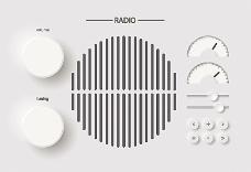 收音机音量与按钮