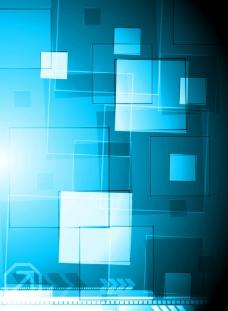 蓝色立体方块背景图片