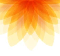 橙色花形背景矢量素材