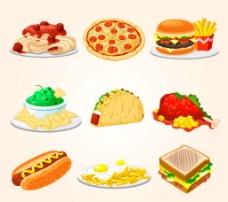 矢量西餐美食图片