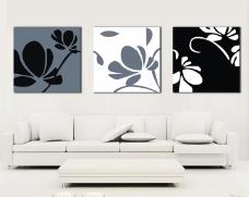 沙发背景墙画