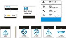 楼层信息牌禁止标识导视系统CDR矢量