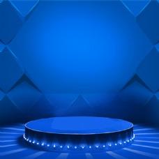 蓝色科技模板