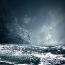 灰色海浪素材