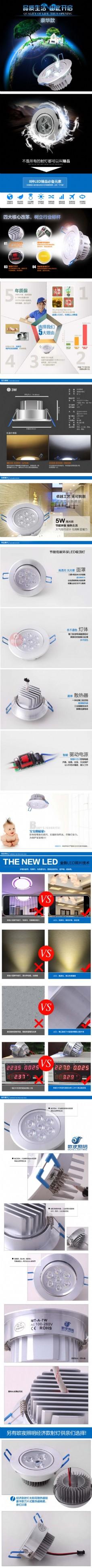 节能低碳环保LED吸顶灯-灯具描述