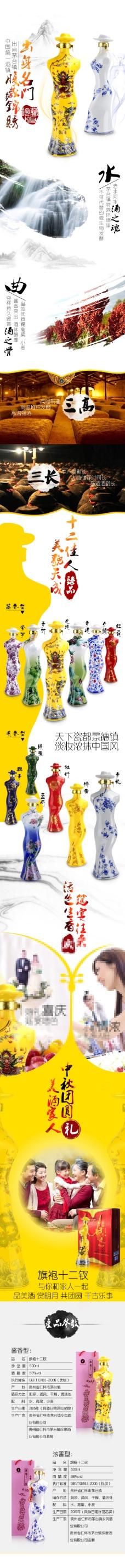 白酒中國風詳情頁
