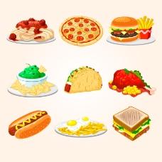美味快餐食物