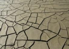 皲裂泥地图片