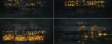 科幻感数字代码模板