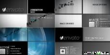 多种简洁的四格分屏展示动画