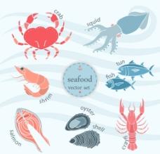 手繪海鮮插圖圖片