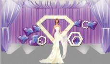 紫色婚礼效果图