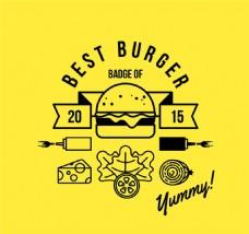 创意汉堡包海报矢量素材