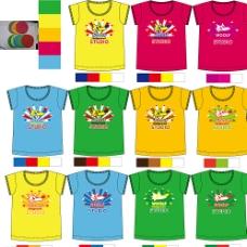 儿童印花T恤图片