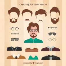 创建自己的男性头像