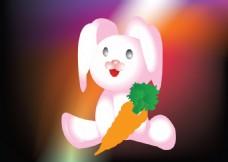 可爱兔子矢量图