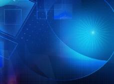 蓝色炫彩科技背景PSD分层素材
