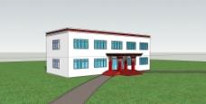 藏式建筑模型 大门 学校效果图图片
