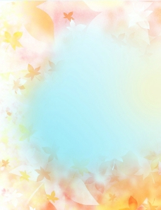 秋天 枫叶 背景 黄色 梦幻图片