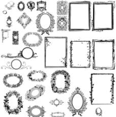 欧式相框psd素材图片