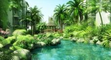 小区绿化图片