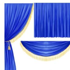 蓝色布幔图片