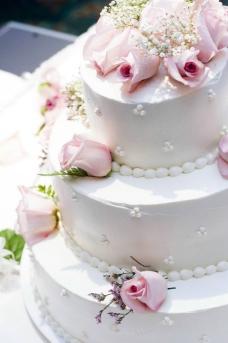 三层婚礼蛋糕图片