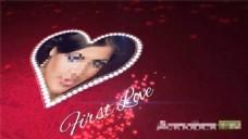 浪漫情人节心形照片展示模板