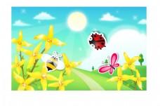 春日黃花矢量圖