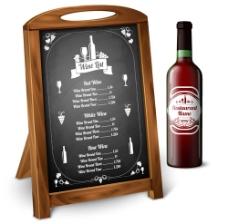 红酒广告牌