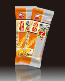 香橙毛毛棒包装图片模板下载