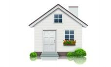 卡通白色小房子png元素