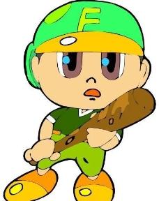 漫画儿童 卡通人物 矢量 CDR_0108