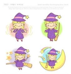 漫画儿童 卡通儿童 矢量 AI格式_0880
