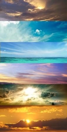 天空淘宝轮播背景图