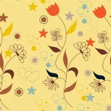 线条花朵背景