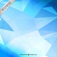 蓝色的多边形背景