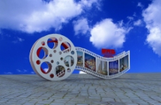 放音机展板电影胶片展板图片