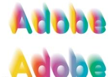 Adobe3D特效炫彩字图片