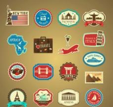 环球旅游标签图片