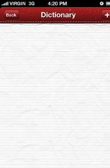 iphone记录界面 PSD素图片