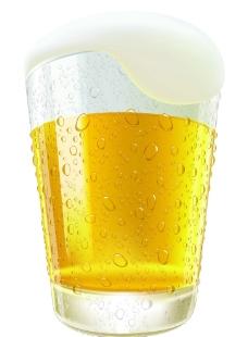 啤酒杯矢量图片