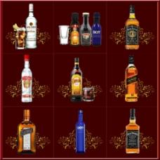 酒类首页九宫格排版设计展示