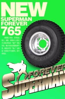 轮胎广告 招贴海报 分层平面图图片