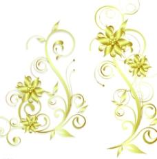金色花纹欧式花纹图片