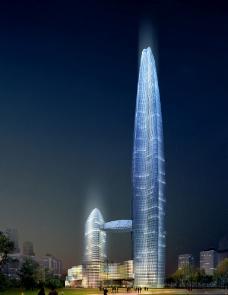 金融大楼夜景设计图片