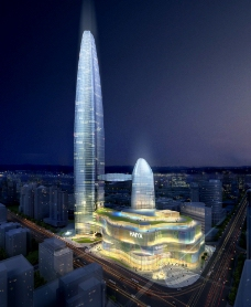 金融大楼夜景图片